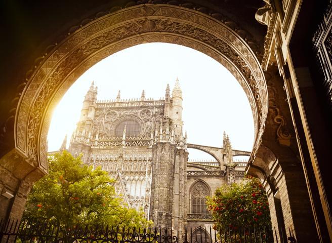 Patio de Naranjas en la catedral de Sevilla