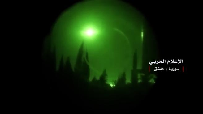 El Gobierno Sirio ha publicado esta imagen de una explosión en el aire que supuestamente se trataría de l bloqueo de uno de los misiles estadounidenses.