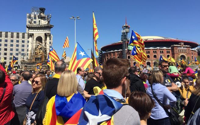La plaza España, punto inicial de la concentración