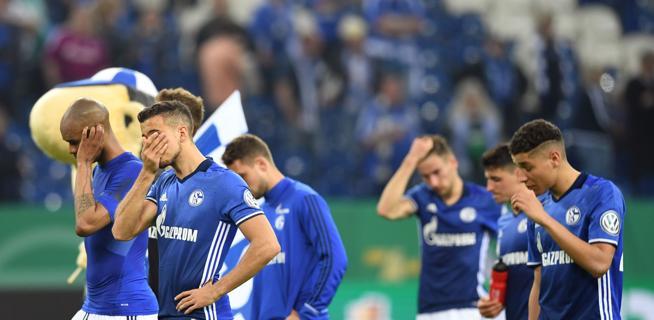 Desolación entre los jugadores del Schalke