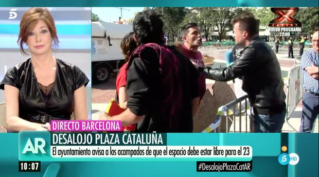 Insultos a Ana Rosa en directo: 'fascista', 'manipuladora', 'ricachona'