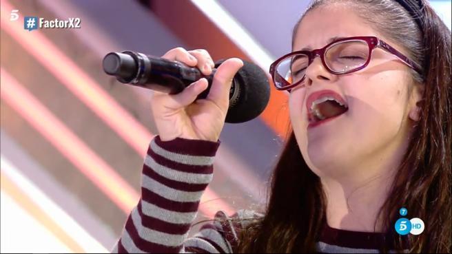 'Factor X': Sheila Marín se transforma al escuchar la música... ¡Vozarrón!