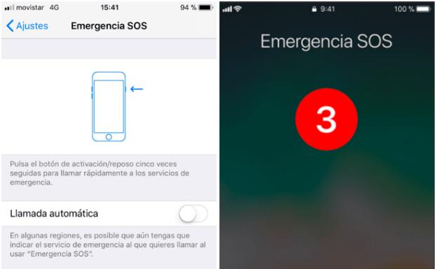 Iphone iOs 11 herramienta emergencias
