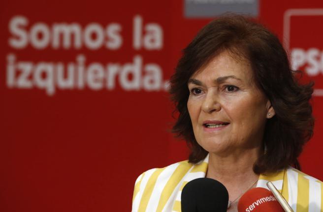 Carmen Calvo, vicepresidenta del Gobierno y ministra de Igualdad