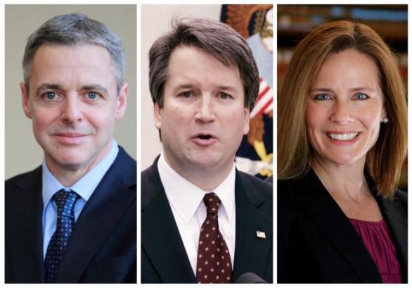 Raymond Kethledge, Brett Kavanaugh y Amy Coney Barrett suenan como los favoritos a ocupar el puesto