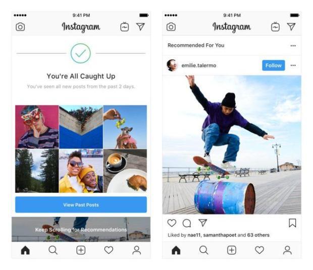 Recomendaciones de Instagram