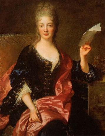 Retrato de Elisabeth Jacquet de la Guerre por el pintor François de Troy