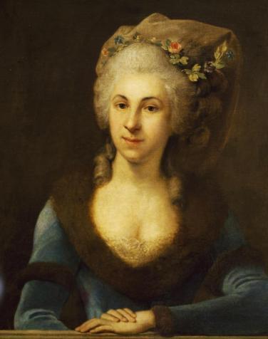 Retrato de Marianna von Martines (1773) obra del pintor Anton von Maron