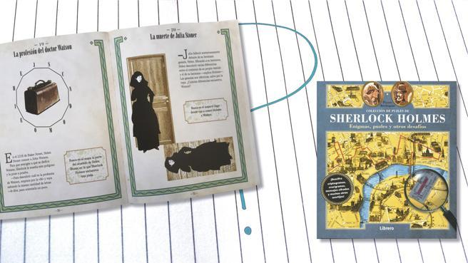 Detalle del libro 'Sheerlock Holmes. Enigmas, puzles y otros desafíos' de Pierre Berloquin