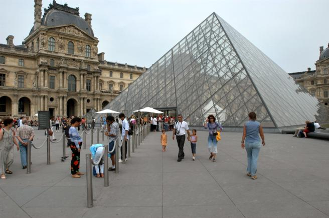 The Louvre Pyramid, one of his best known works