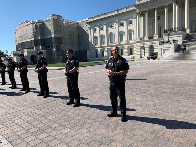 La Policía del Congreso informó de que había arrestado a 16 personas