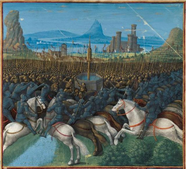 Batalla de los Cuernos de Hattin, en 1187, momento decisivo de las cruzadas.