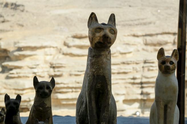 Estatuas de gatos en Egipto