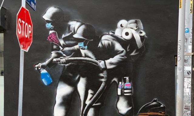 Graffiti de Hijack Art en Los Ángeles