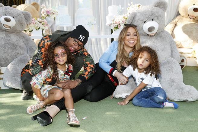 Monroe Cannon, Nick Cannon, Mariah Carey and Moroccan Scott Cannon