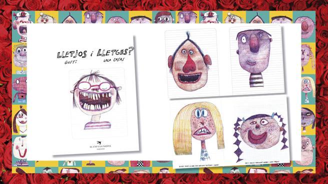 Details of the book, 'Lletjos i lletges?' Lola Houses and Gusti (illustrations)