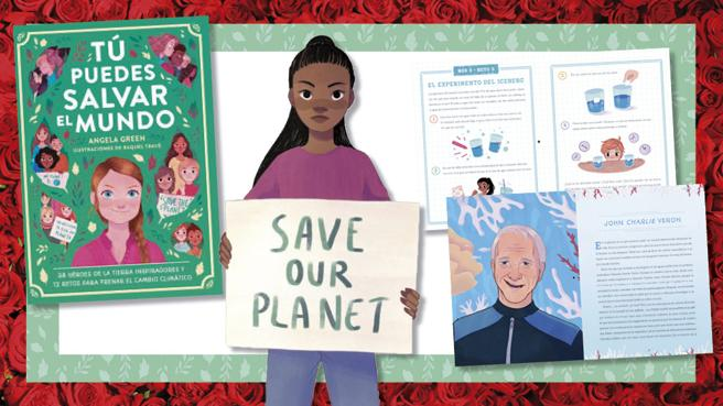 Details of the book 'You can save the world' by Angela Green and Rachel Through (illustrations)