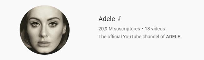 Adele on Youtube