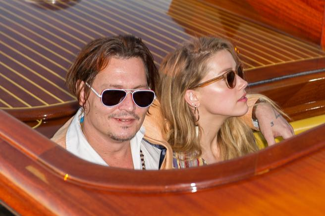 Johnny Depp and Amber Heard, in Venice