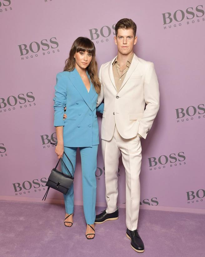 Aitana in the parade of Hugo Boss in Milan
