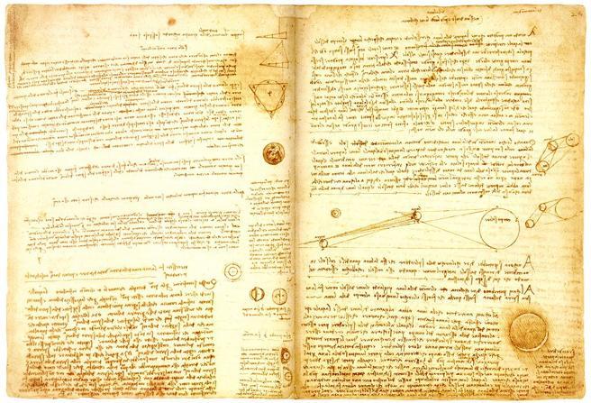 Codex Leicester - Leonardo da Vinci (1452-1519)
