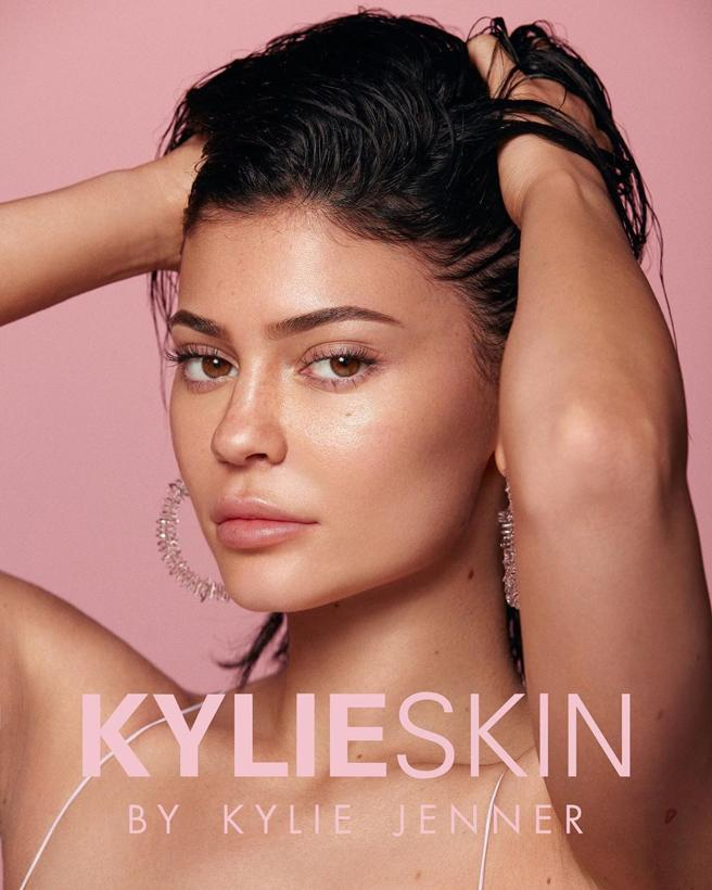Photograph of the campaign of Kylie Skin