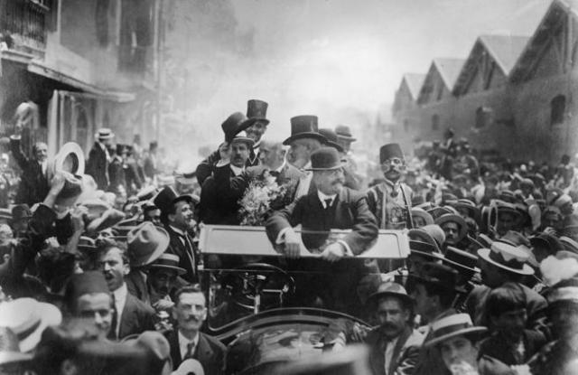 El presidente griego Eleutherios Venizelos (1864 - 1936), en una fotografía tomada en Alejandría en torno a 1915. Venizelos fue el gran impulsor político de la Megali Idea a principios el siglo XX