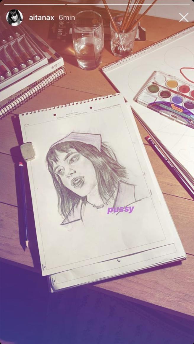 Drawing of Aitana Ocaña