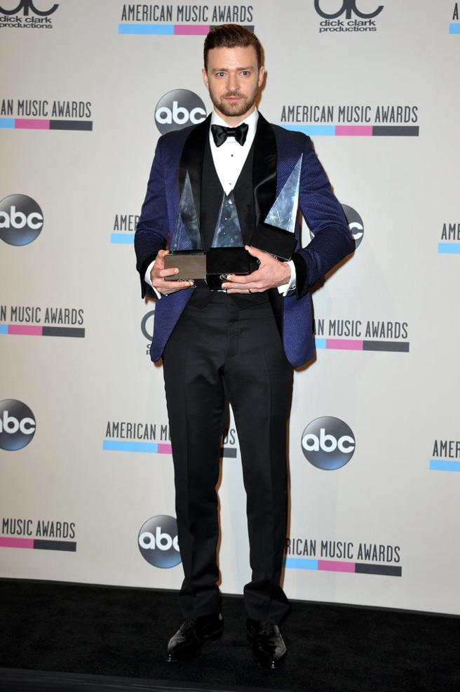 Justin Timberlake at the American Music Awards