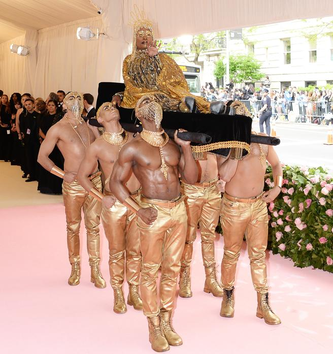 Billy Porter with the look of the aesthetics of Camp that led to the Met gala, 2019