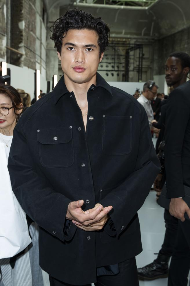 Charles Melton in the Fashion Week of Paris in September of 2019