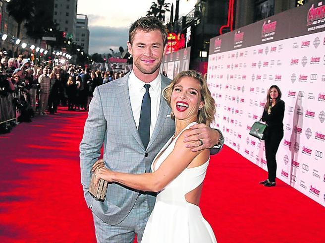 Chris Hemsworth and his partner, Spanish actress Elsa Pataky