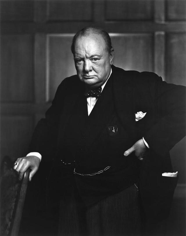 Foto de Winston Churchill tomada en 1941.