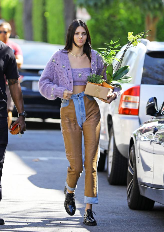 Kendall Jenner with the set of point in Los Angeles