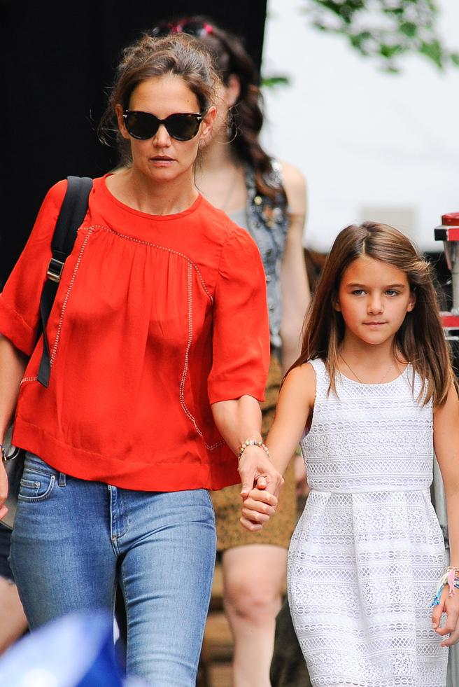 Katie Holmes and Suri Cruise, the daughter he had with Tom Cruise, who also appears in the list of the 10 children of the world's richest