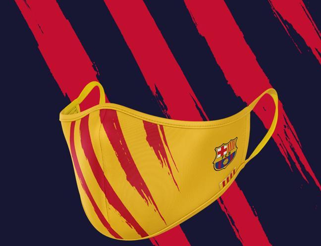 El modelo inspirado en la bandera catalana.