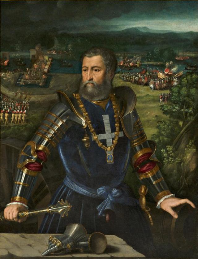 Alfonso d´Este, último esposo de Lucrecia Borgia.