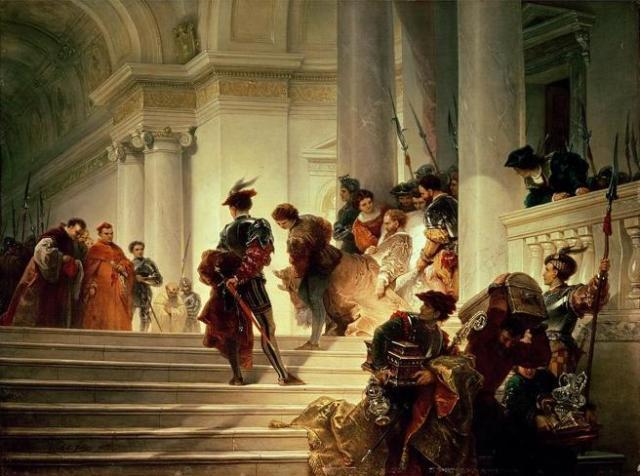 'César Borgia abandonando el Vaticano', por Giuseppe Lorenzo Gatteri.