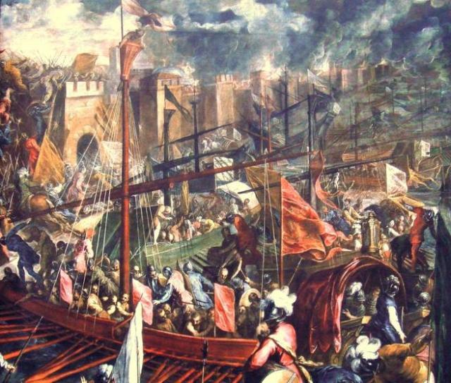 'La toma de Constantinopla en 1204', por Palma 'el Joven'.