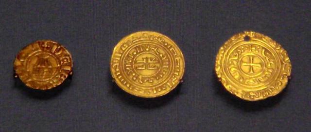 Monedas cruzadas del Reino de Jerusalén.