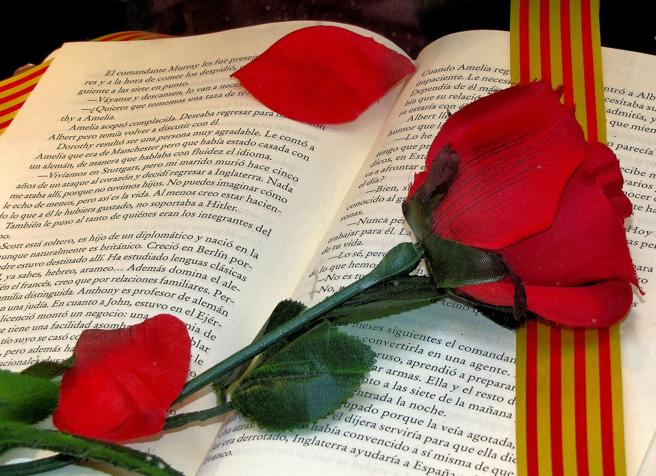 The rose and the book.
