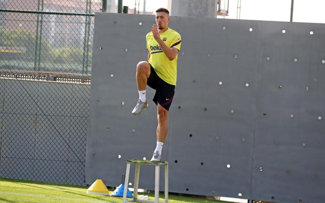 Lenglet in the final stretch of his recovery