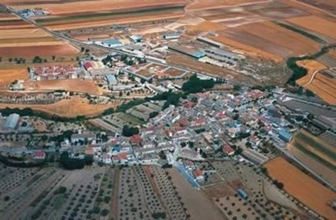 Vista aérea de  Ventas de Huelma donde se ha producido el supuesto avistamiento del felino