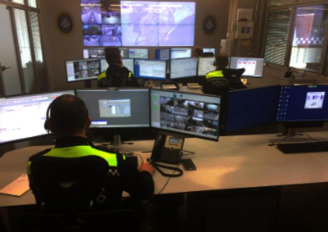 Sala de Coordinación Operativa de la Policía Local de Mataró