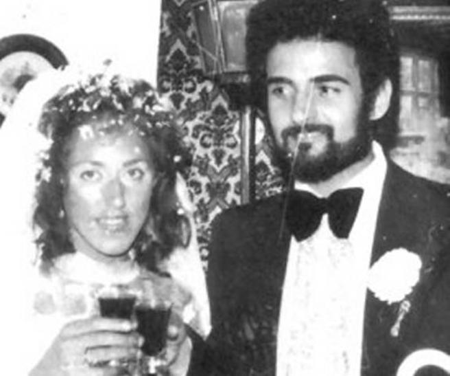 Peter Sutcliffe junto a su mujer Sonia el día de su boda