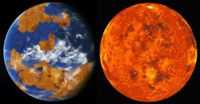 Earth and Venus