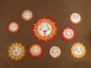 Soli in ceramica dipinti a mano