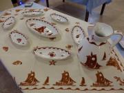 Servizio per il pesce in ceramica color ruggine