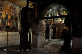 Bulgaria, Nessebar: l'interno di un'antica chiesa bizantina.