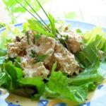 Chicken, Chive and Lovage Salad